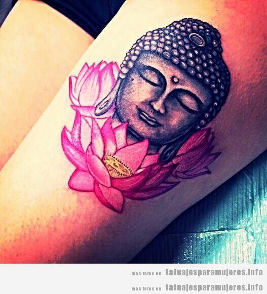 Tatuajes budistas en pleno color para mujeres | Tatuajes para mujeres