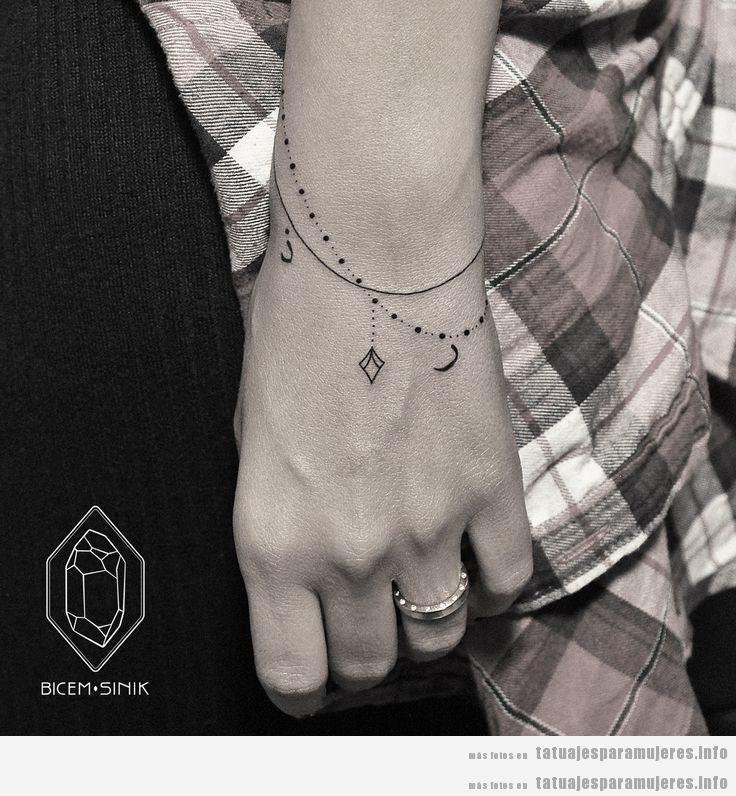 Tatuaje bonito para mujeres, pulsera
