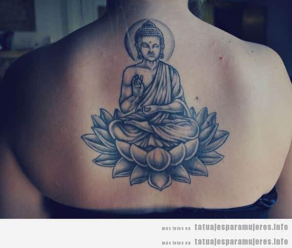Tatuajes Espirituales Buda Om Y Mandalas En La Espalda Para Mujer