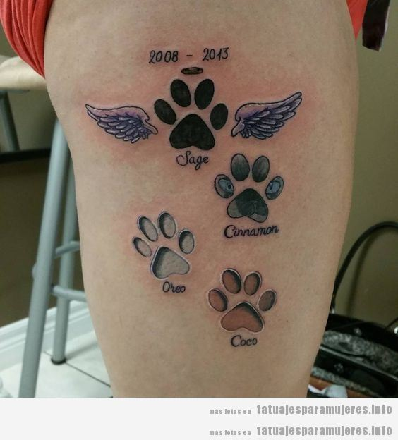 Tatuajes conmemorativos perros fallecido