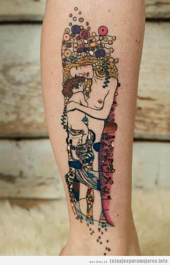 Tatuaje inspirado en obra de arte de Klimt