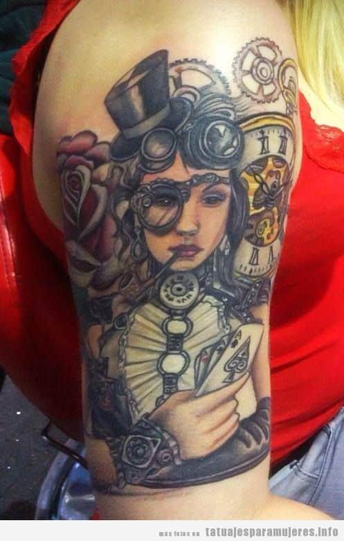 Tatuajes steampunk mujeres