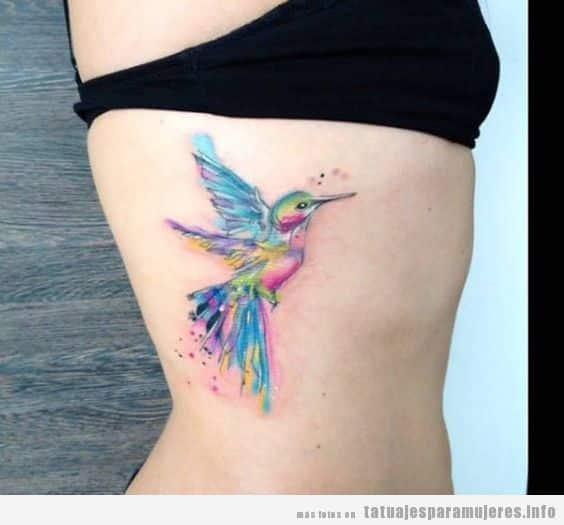 Tatuajes De Pájaros Para Mujer En Clavícula Hombro Costado Muslo
