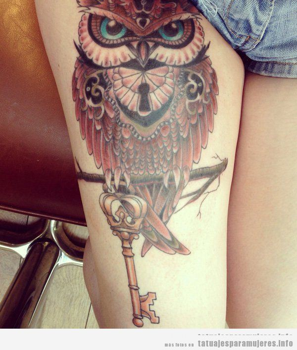 Tatuajes de búhos y lechuzas para mujer