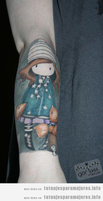 Tatuajes muñecas Gorjuss para mujer 7