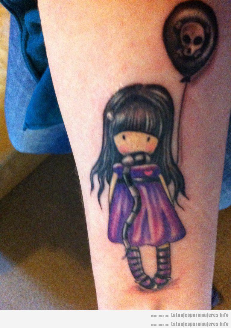 Tatuajes muñecas Gorjuss para mujer 2