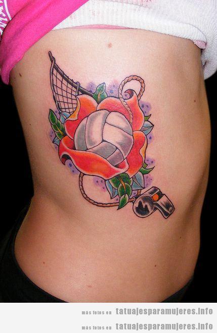 Tatuajes balones volleyball para mujer 3