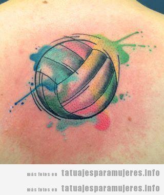 Tatuajes balones volleyball para mujer 5