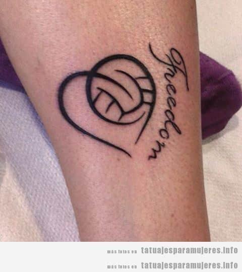 Tatuajes balones volleyball para mujer 7
