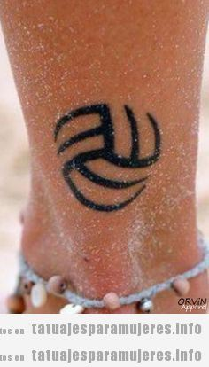 Tatuajes balones volleyball para mujer