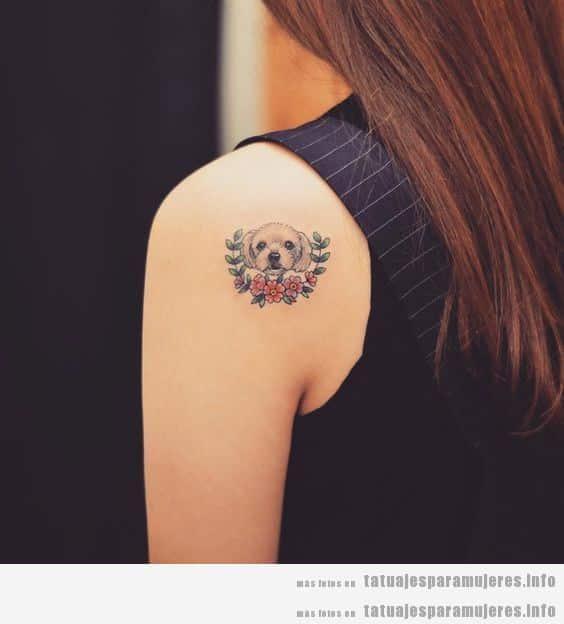 Diseños de tatuajes bonitos de perros para mujer 2