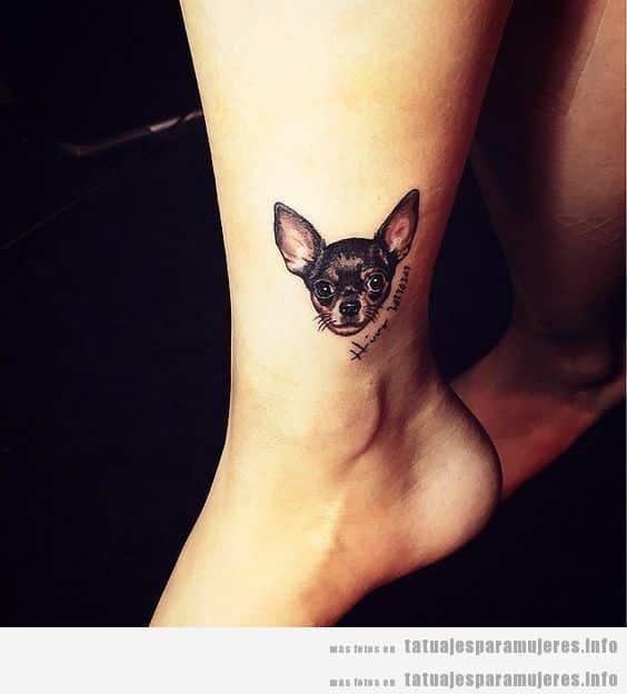 Diseños de tatuajes bonitos de perros para mujer 5