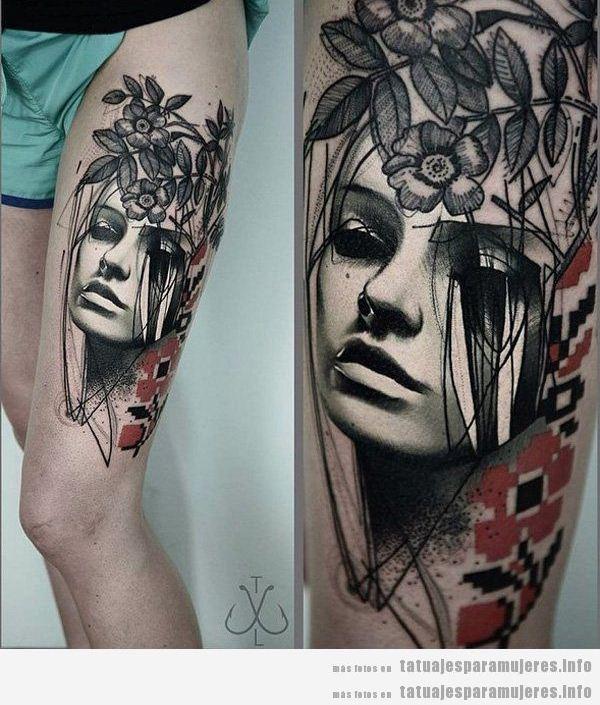 + 15 Tatuajes para mujer en el muslo, ¡haz que tus piernas sean aún más sensuales!