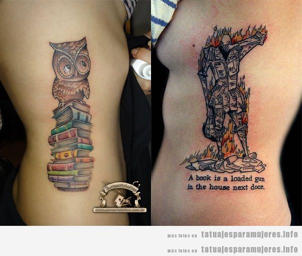 Tatuajes para mujeres en el costado libros 2