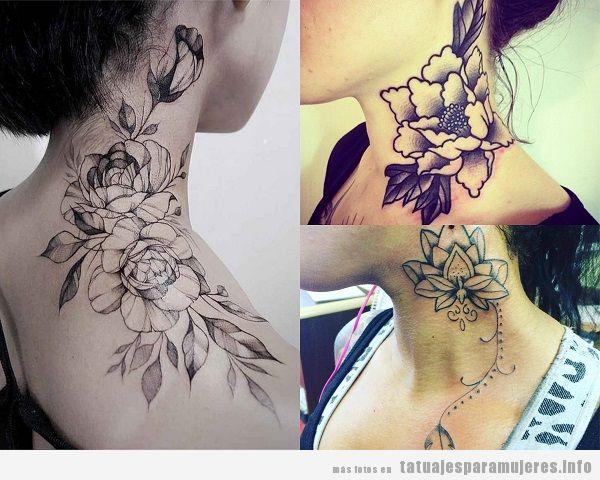 Tatuajes Cuello Mujer Flores Tatuajes Para Mujeres