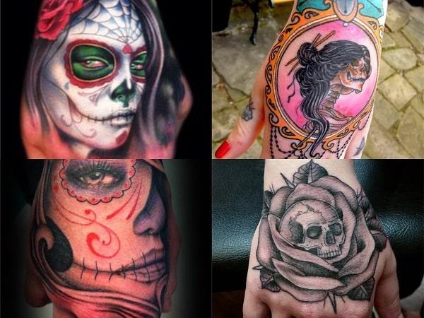 Tatuajes Mano Mujer Calaveras 2 Tatuajes Para Mujeres