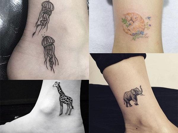 Tatuajes para mujer en el tobillo de animales