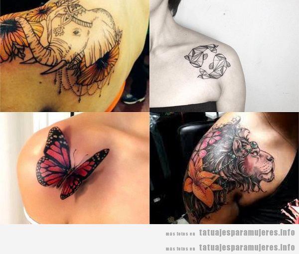 Tatuajes para mujeres en el hombro, animales