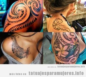 Tatuajes Maories Hombro Mujer tatuajes-mujeres-hombro-tribal-maori • tatuajes para mujeres