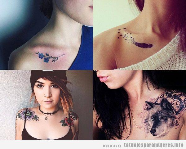Tatuajes para mujeres en la clavícula