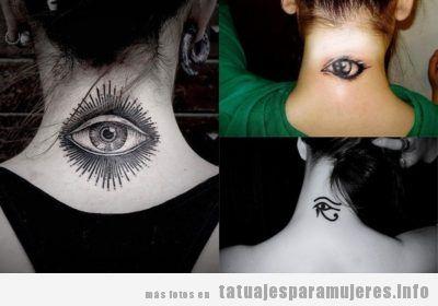40 preciosos tatuajes en la NUCA para mujer