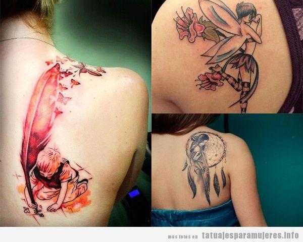 Tatuajes para mujer en el omóplato originales