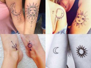 Tatuajes Amigas tatuajes-amigas-sol-luna • tatuajes para mujeres