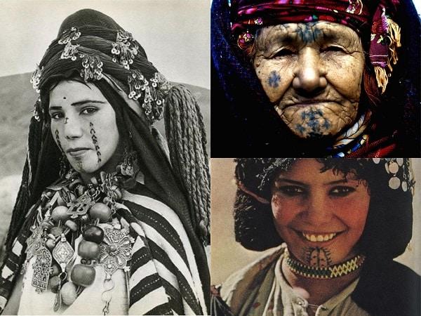 Tatuajes cara mujeres bereberes
