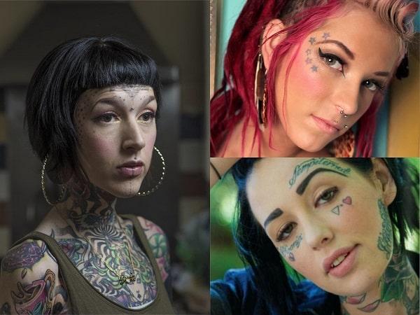 Tatuajes en la cara para mujer, diseños en las cejas