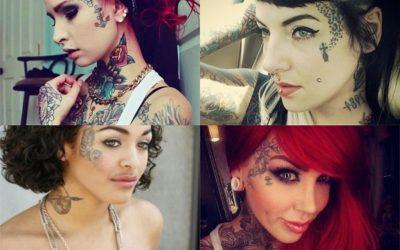 Tatuajes en la CARA para mujer: + 25 diseños muy impactantes