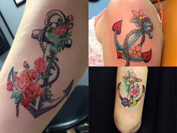 Tatuajes de anclas para mujer el brazo