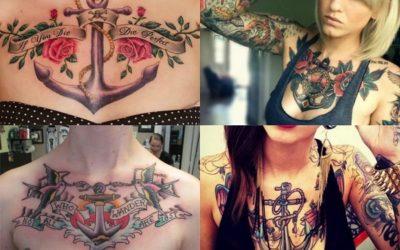 Tatuajes de anclas para mujer: 25 diseños impresionantes y llenos de color