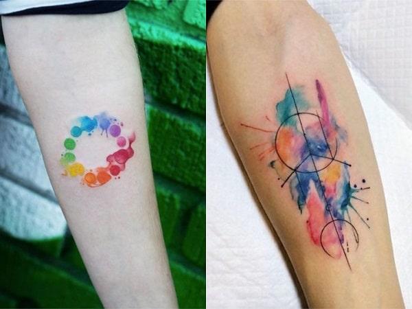 Tatuajes acuarela mujer antebrazo 2