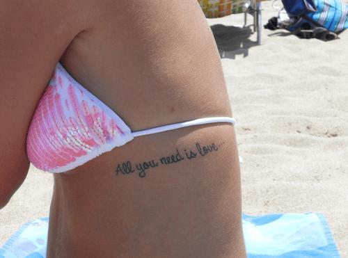 Tatuajes con frases de amor 16