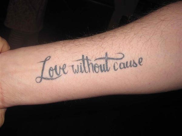 Tatuajes con frases de amor