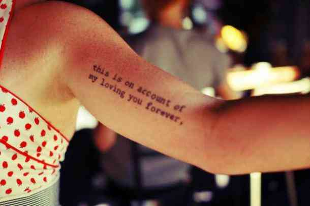 + 20 Tatuajes con frases de amor