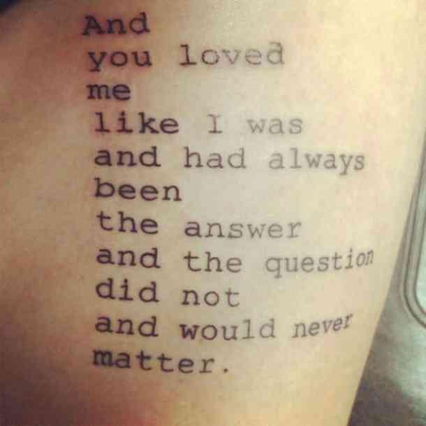 Tatuajes con frases de amor 18