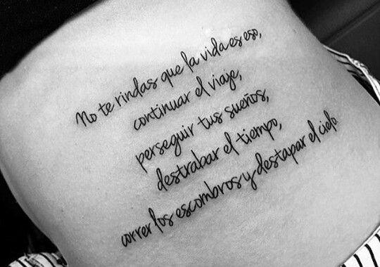 20 Tatuajes Para Mujeres Con Frases En Espanol Sobre La Vida