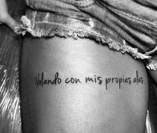 Tatuajes para mujer con frases en español sobre la vida 8