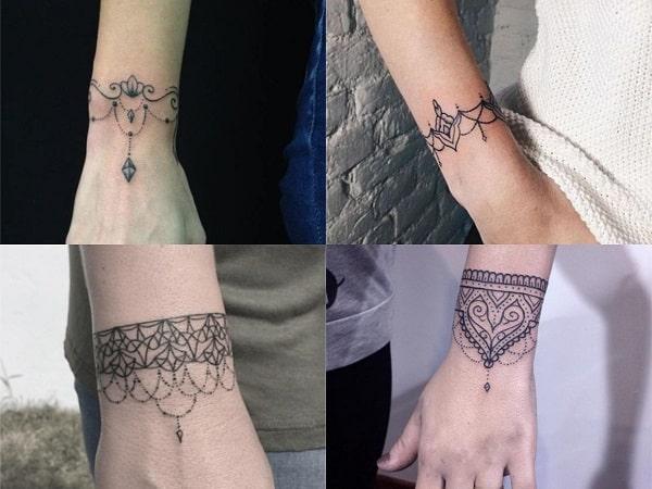 Tatuajes De Brazaletes Para Mujer 20 Disenos Delicados Y Bonitos - Tatuajes-de-brazaletes-para-el-brazo