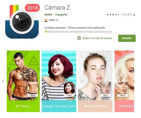 App camara Z