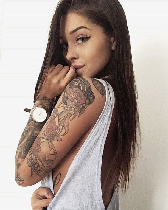 Tatuajes Para Mujeres Con Pelo Liso Tatuajes Para Mujeres