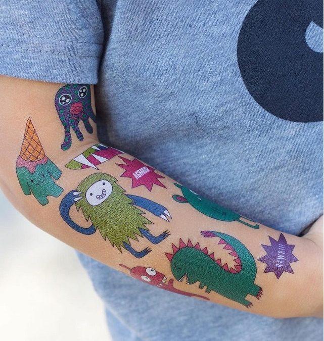 Tatuajes temporales para fiestas infantiles con animadores