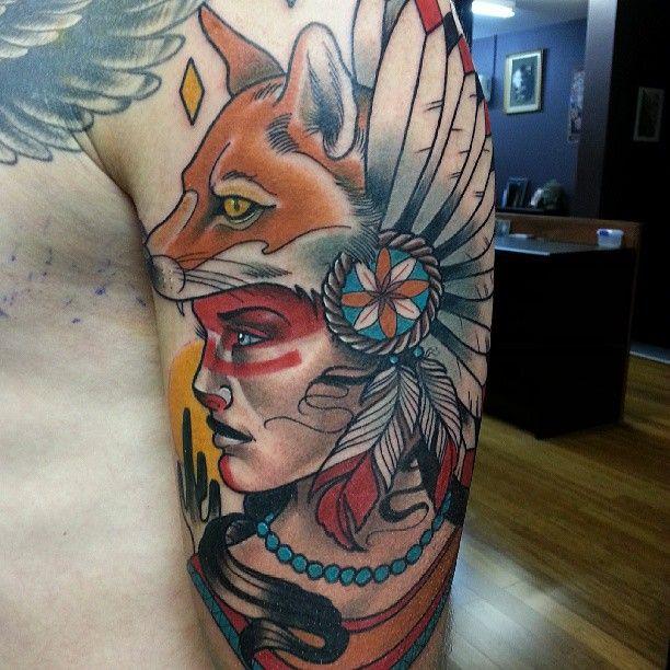 Tatuaje mujer cabeza zorro 2