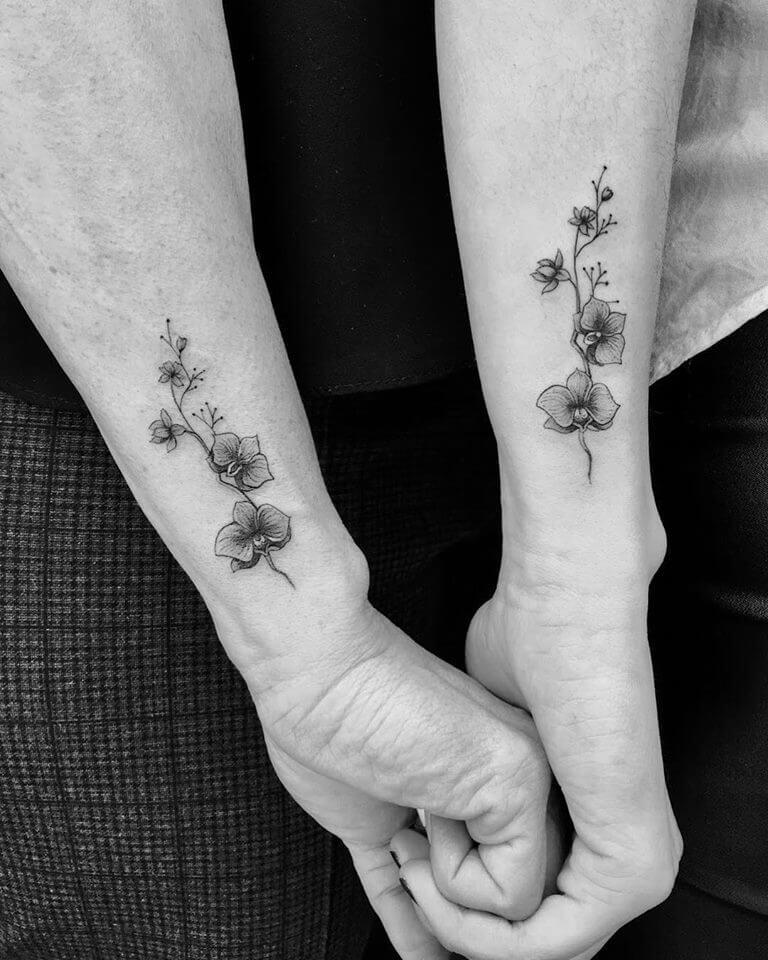 Microrrealismo tatuajes, flores