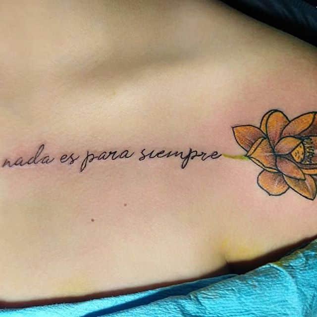 Frases para tatuajes nada es para siempre