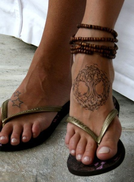 Tatuajes del árbol de la vida el empeine