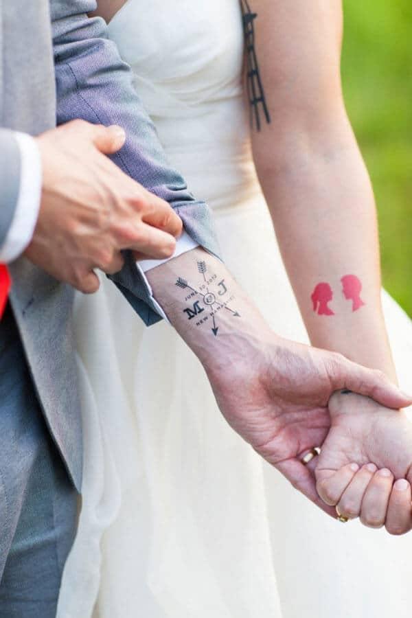 Tatuajes temporales boda para novios
