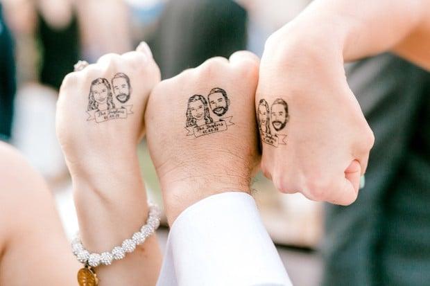 Tatuajes temporales boda para invitados